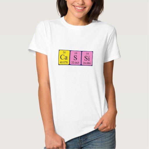 Cassi periodic table name shirt