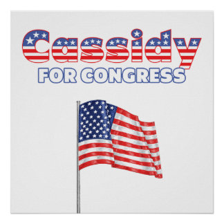 Cassidy for Congress Patriotic American Flag Print