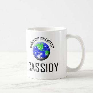 Cassidy más grande del mundo taza de café