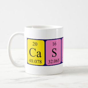 Cassidy periodic table name gifts on zazzle cassidy periodic table name mug urtaz Image collections