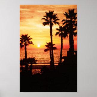 Cassidy Street Beach Sunset Poster
