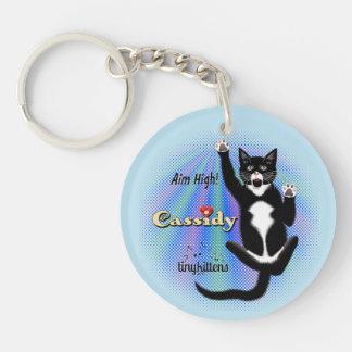 Cassidy TinyKittens Double-Sided Round Acrylic Keychain