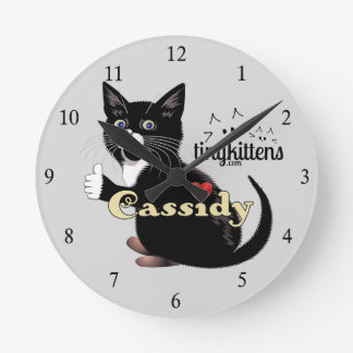 Cassidy TinyKittens Round Clock