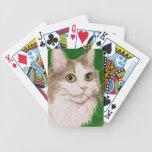 Cassie en lápiz del color barajas de cartas