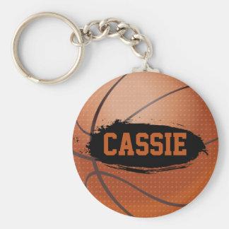 Cassie Grunge Basketball Keychain / Key Ring