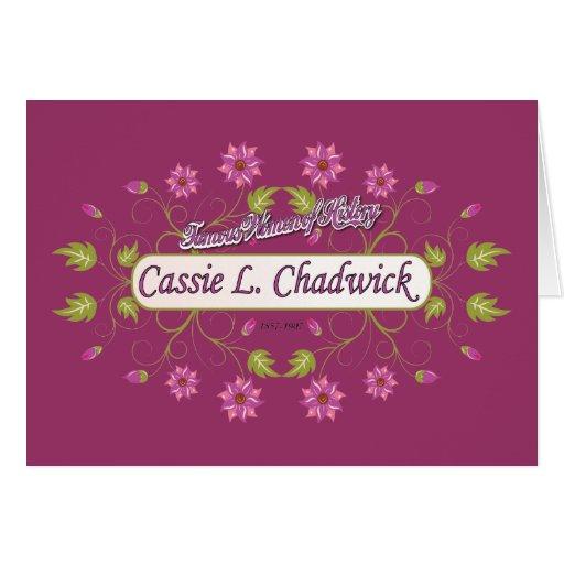 ~ Cassie L mujeres americanas famosas de Chadwick Tarjeta De Felicitación