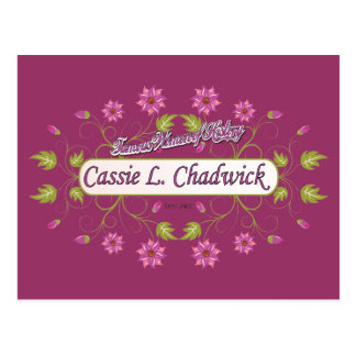 ~ Cassie L mujeres americanas famosas de Chadwick Tarjetas Postales