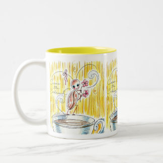Cassie The Cute Cockroach Two-Tone Coffee Mug