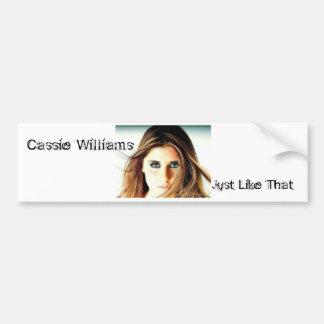 CassieEyes22, Cassie , Williams, Cassie William... Bumper Sticker