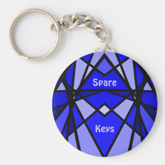 Cassie's art Blue modern stained glass Keychain