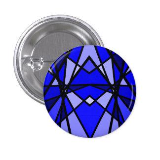 Cassie's art Blue modern stained glass Pinback Button