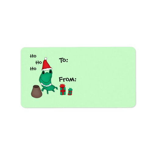 Cassie's cute Christmas frog to and from Personalized Address Labels