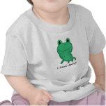 Cassie's frog shirts