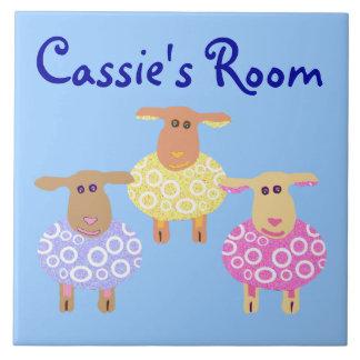 Cassie's Room Large Square Tile