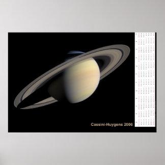 Cassini-Huygens 2006 Calendar Poster
