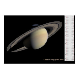Cassini-Huygens 2006 Calendar Print