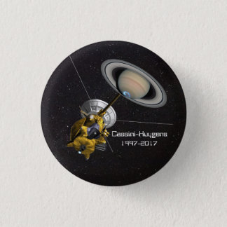 Cassini Huygens Mission to Saturn Pinback Button