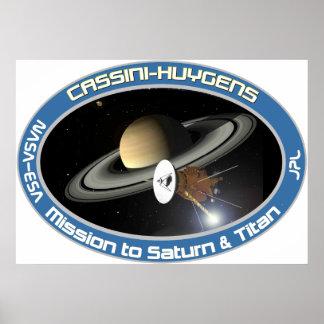 CASSINI - HUYGENS POSTER