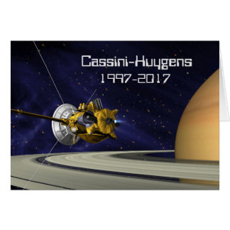 Cassini Huygens Saturn Mission Spacecraft Card