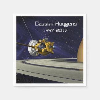 Cassini Huygens Saturn Mission Spacecraft Paper Napkin