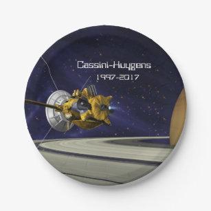 Cassini Huygens Saturn Mission Spacecraft Paper Plate