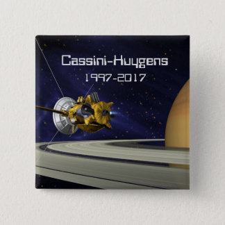 Cassini Huygens Saturn Mission Spacecraft Pinback Button