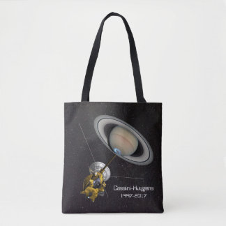 Cassini Huygens Saturn Mission Spacecraft Tote Bag