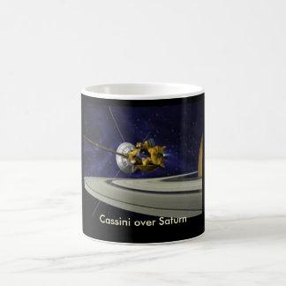 Cassini sobre la taza de Saturn