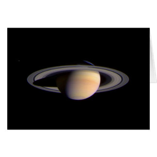 Cassini View of Saturn Space NASA Card