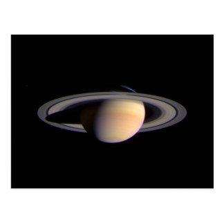 Cassini View of Saturn Space NASA Postcard