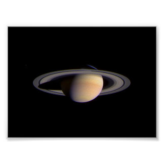 Cassini View of Saturn Space NASA Poster