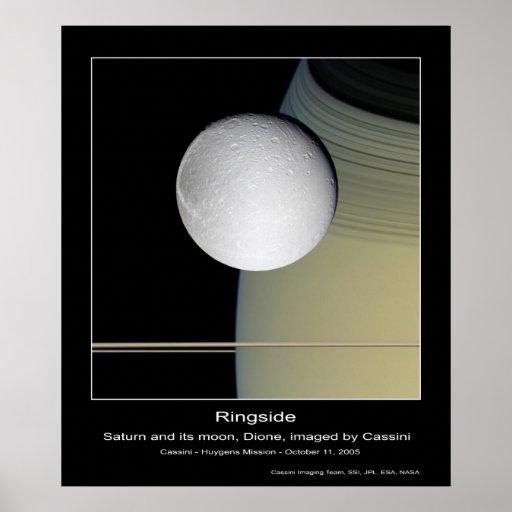 CassiniMission-Ringside-Saturn&amp Póster