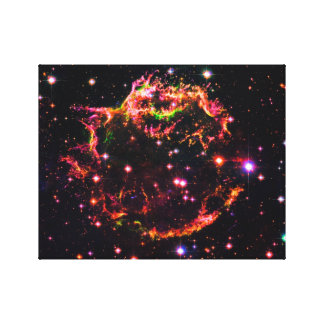 Cassiopeia A Nebula Supernova Remnant Space Photo Canvas Print