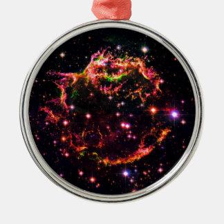 Cassiopeia A Nebula Supernova Remnant Space Photo Metal Ornament