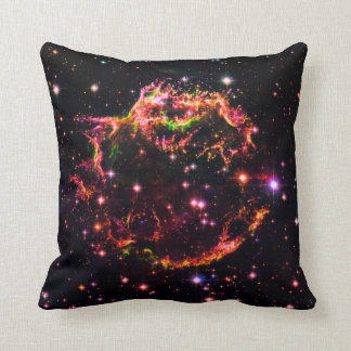 Cassiopeia A Nebula Supernova Remnant Space Photo Throw Pillow
