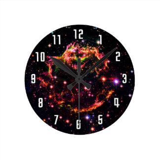 Cassiopeia A, SN 1680 Nebula Round Clock