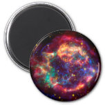 Cassiopeia a Spitzer 2 Inch Round Magnet