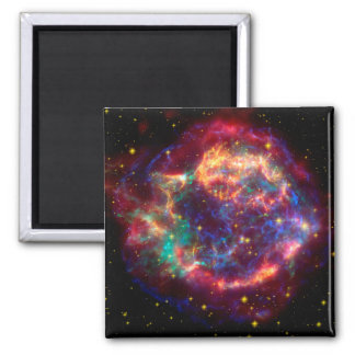 Cassiopeia a Spitzer 2 Inch Square Magnet