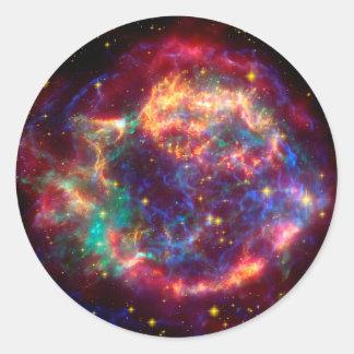 Cassiopeia a Spitzer Classic Round Sticker