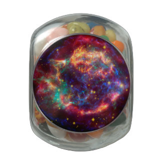 Cassiopeia a Spitzer Glass Candy Jar