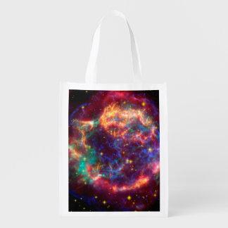 Cassiopeia a Spitzer Grocery Bag