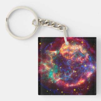 Cassiopeia a Spitzer Keychain
