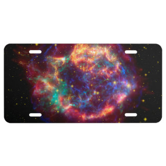 Cassiopeia a Spitzer License Plate