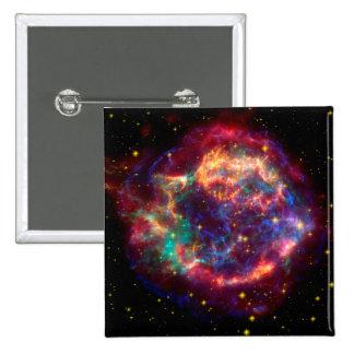 Cassiopeia a Spitzer Pinback Button