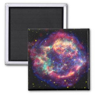 Cassiopeia A Supernova ... Death Becomes Her 2 Inch Square Magnet