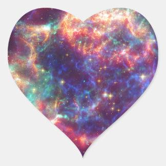 Cassiopeia A Supernova ... Death Becomes Her Heart Sticker