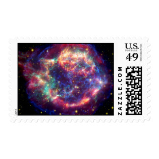Cassiopeia A Supernova Death Becomes Her Postage Stamps