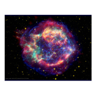 Cassiopeia A Supernova ... Death Becomes Her Postcard