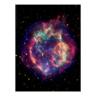 Cassiopeia A Supernova ... Death Becomes Her Print