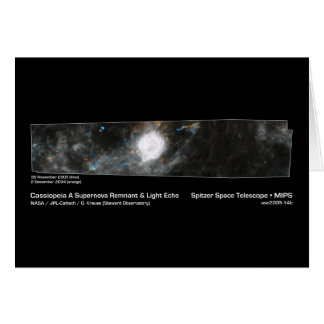 Cassiopeia A Supernova Remnant & Light Echo NASA Card